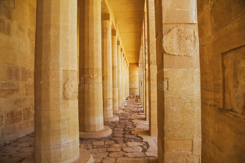 Ancient the Valley of the Queens Temple in Luxor stock image