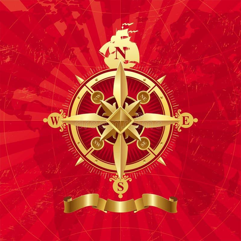Ancient Vector Compass Rose Stock Photos