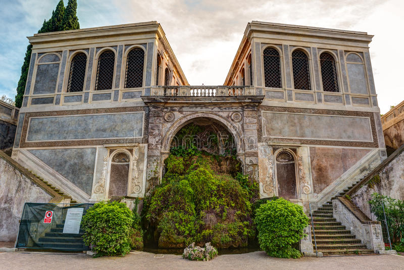 Ancient villa on the Palatine Hill in Rome. Italy royalty free stock image