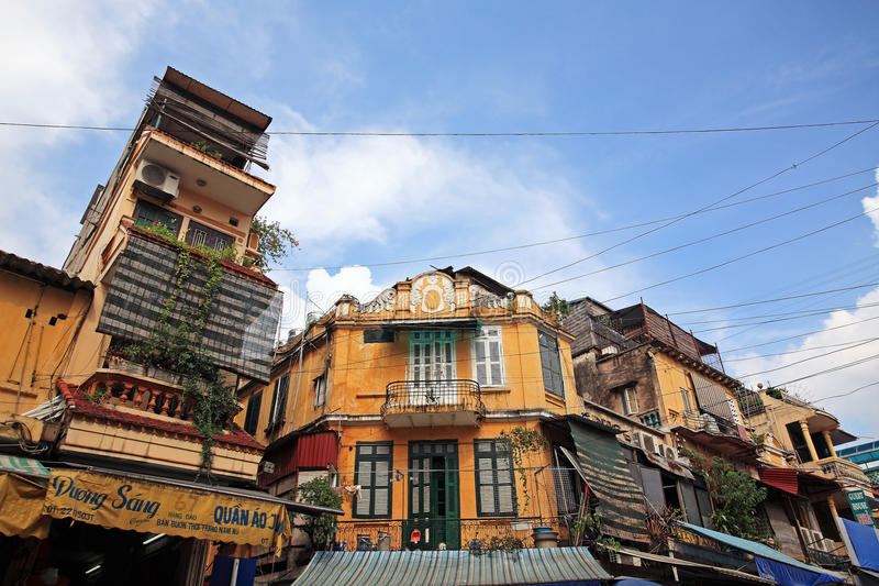 Ancient Village Buildings In Hanoi Editorial Stock Image
