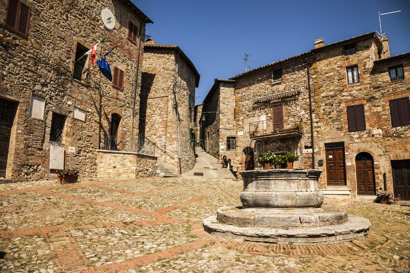 Ancient village Castiglione d'Orcia in Tuscany - Italy royalty free stock images