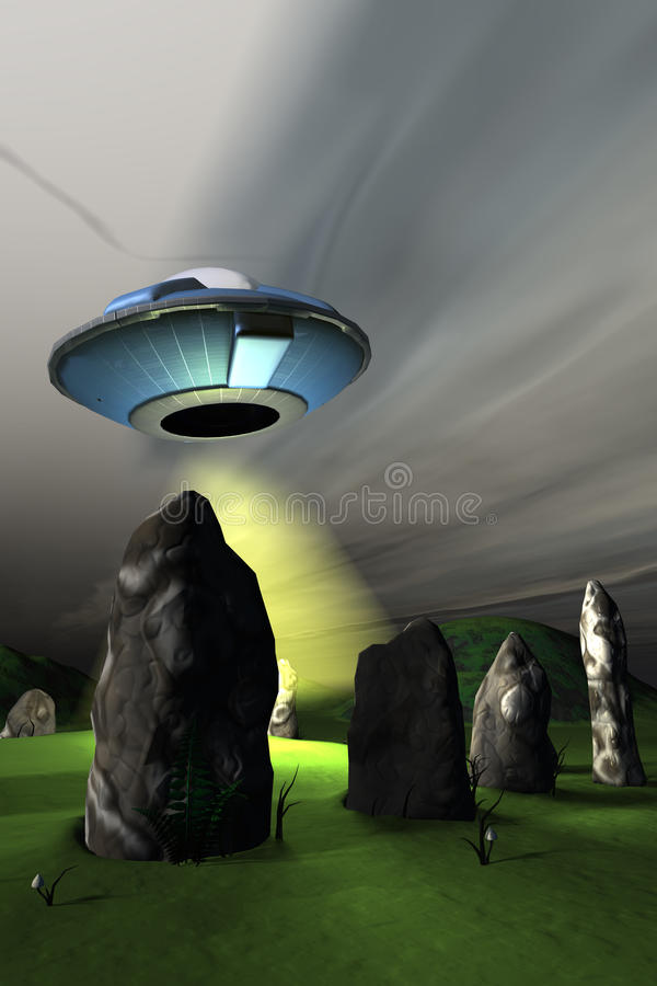 Download Ancient Visitors stock illustration. Image of flying - 16798245
