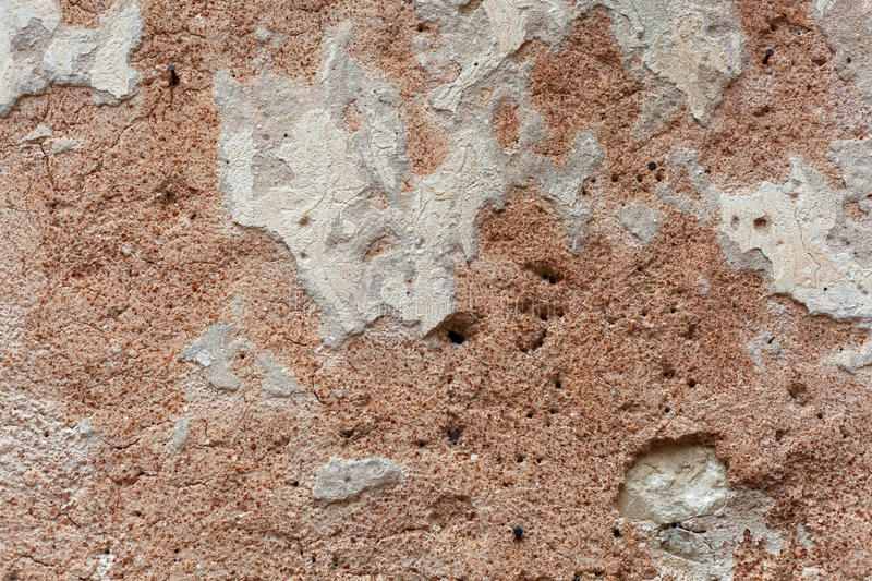Ancient wall plaster stock photo