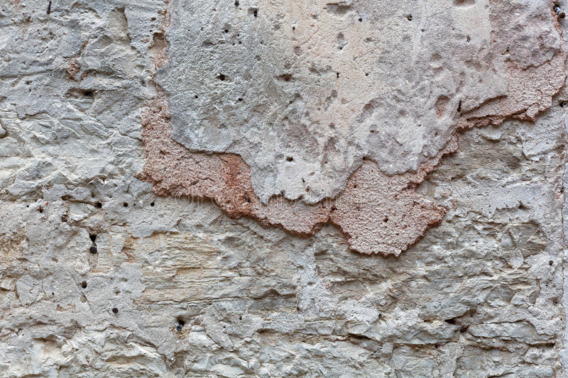 Ancient wall plaster stock image