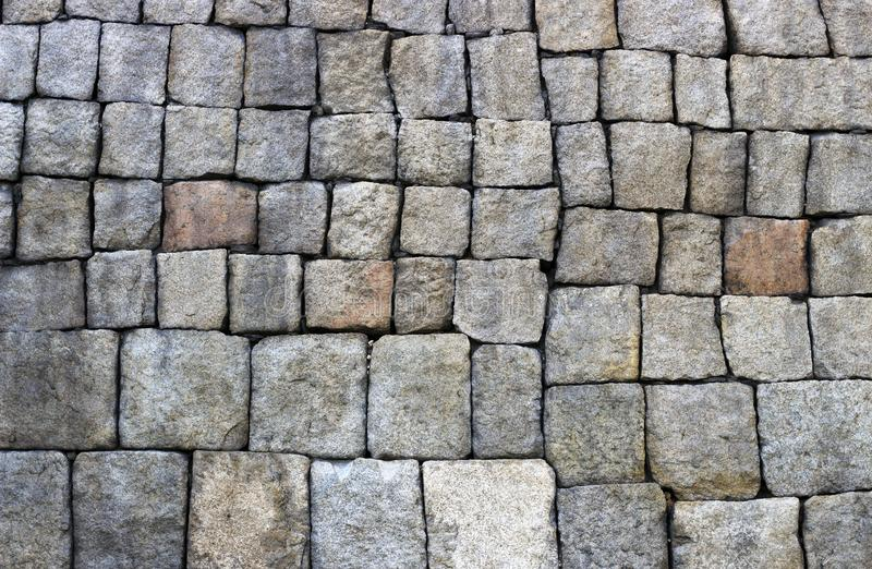 Ancient wall of stones close-up, texture, background. The ancient wall of stones close up, texture, background, surface royalty free stock image