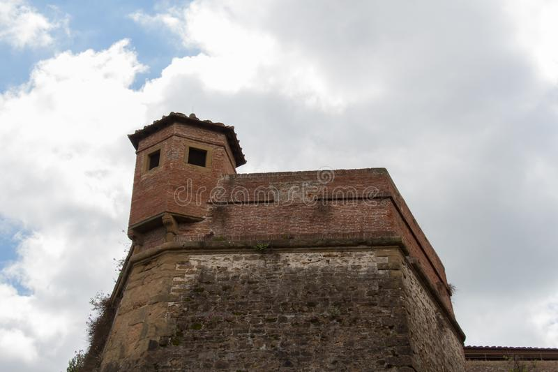 Ancient walls of Belvedere fort. Florence, Italy stock photography