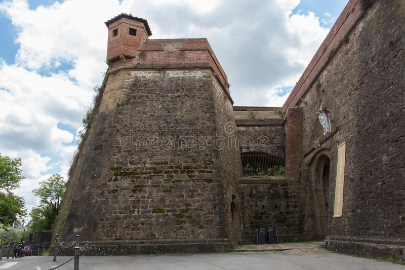 Ancient walls of Belvedere fort. Florence, Italy stock photos