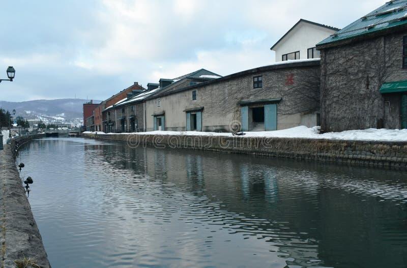 Ancient warehouse on Otaru canal old port town and landmark in Hokkaido Japan. Ancient warehouse on Otaru canal the old port town and landmark in Hokkaido Japan stock photos