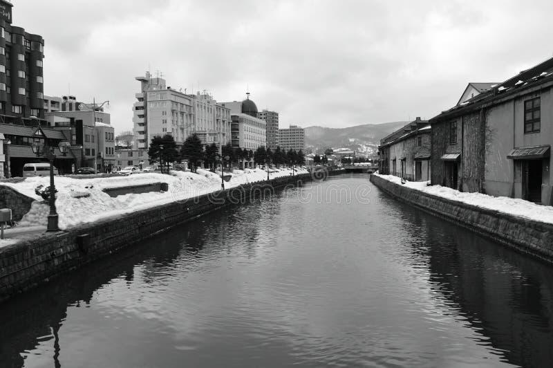 Ancient warehouse on Otaru canal old port town and landmark in Hokkaido Japan. Ancient warehouse on Otaru canal the old port town and landmark in Hokkaido Japan royalty free stock images