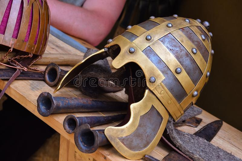 Ancient helmet royalty free stock images