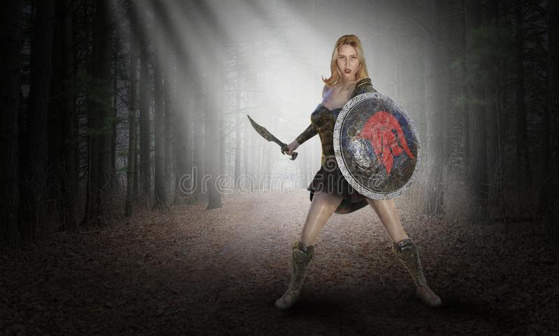 Ancient Warrior, Soldier, Amazon Woman, Surreal stock photos