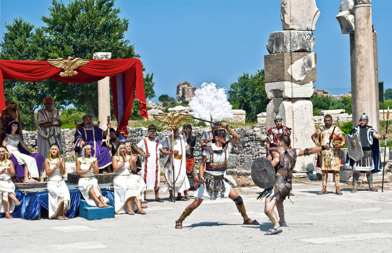 Download Ancient warriors editorial photography. Image of tourism - 28411707