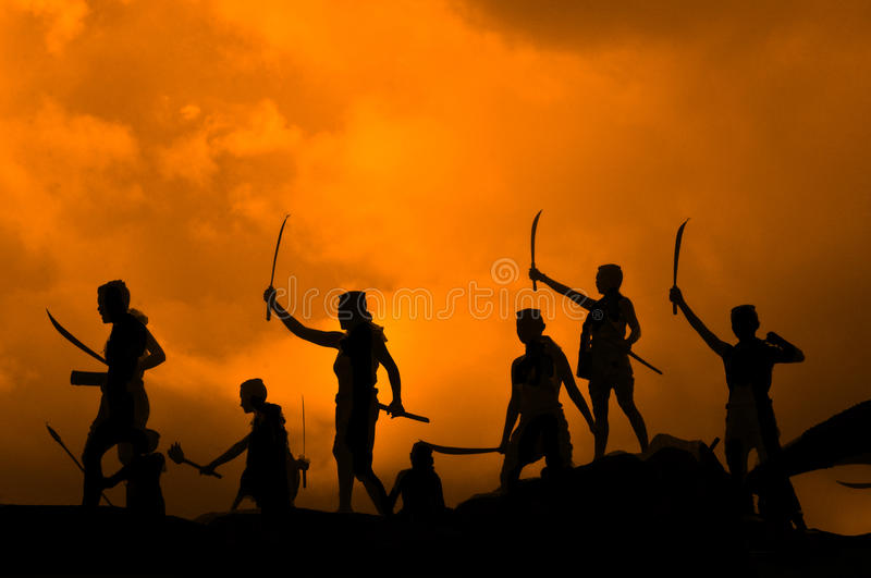 The ancient warriors of Thailand stock image