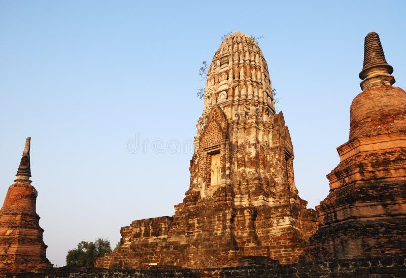 Ancient Wat Ratchaburana. royalty free stock photography