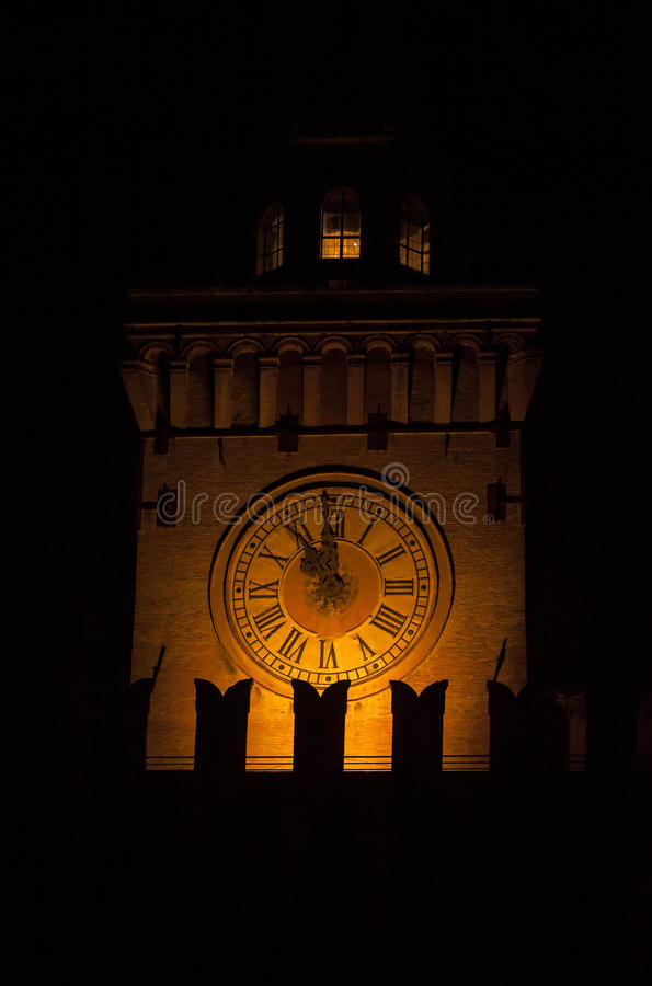 Download Ancient Watch Tower In The Night Stock Image - Image: 25348005