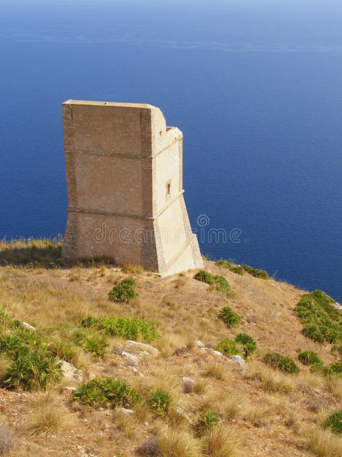 Download Ancient Watchtower Against Sea Stock Photo - Image: 12584590
