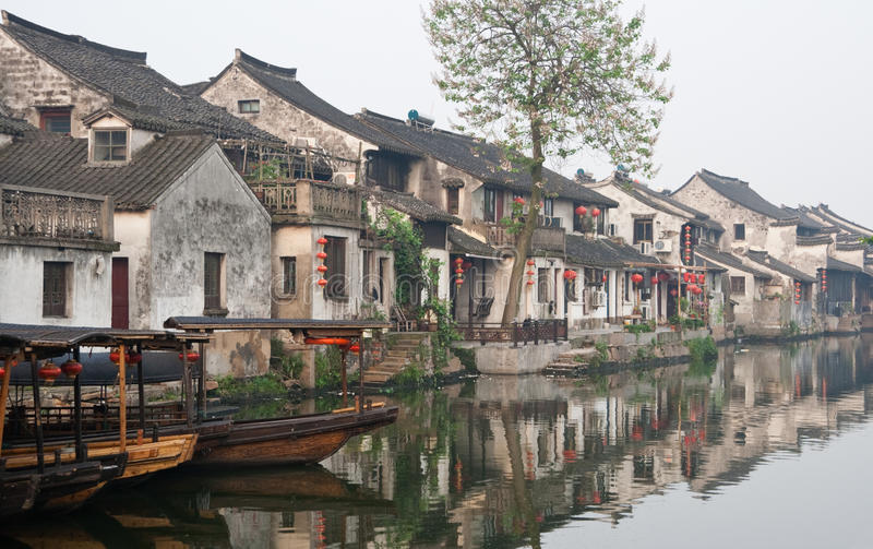 Ancient water city. In Zhejiang Province, China stock images