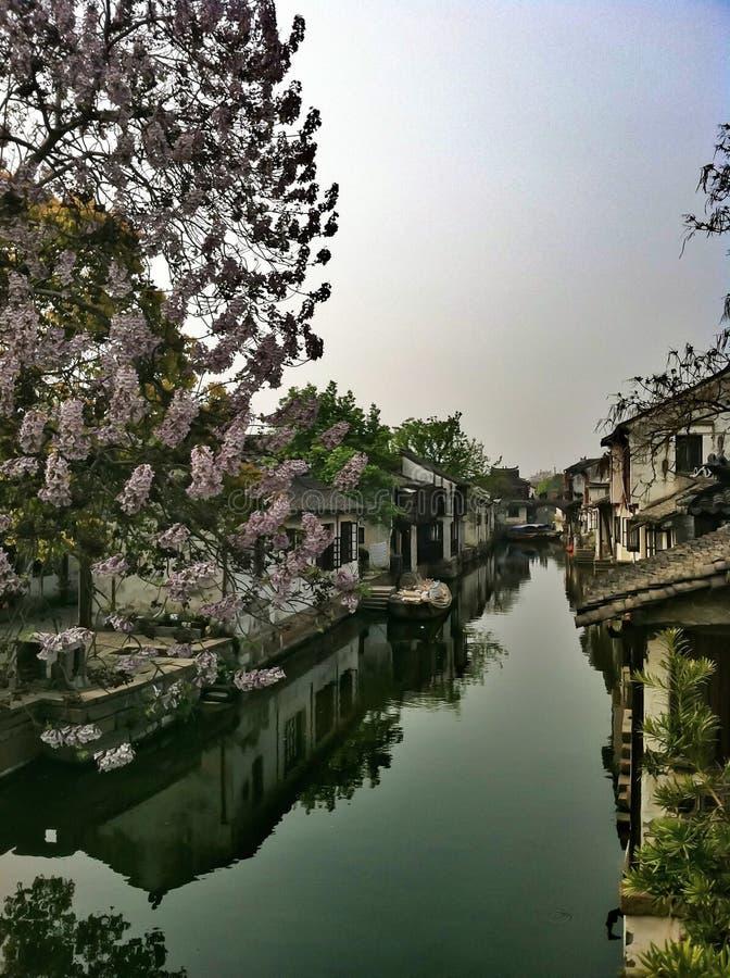 Ancient Water Town Xitang stock photo
