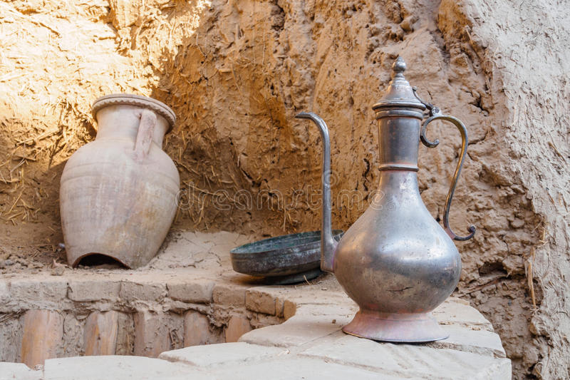 Ancient water well. In house of Central Asia royalty free stock photo