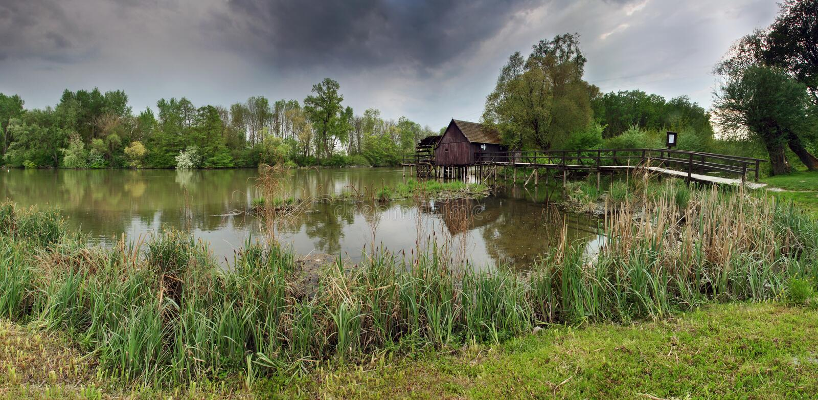 Ancient Watermill Royalty Free Stock Photos
