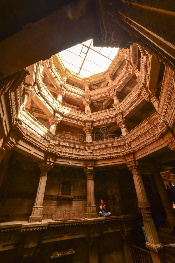 Ancient well in Ahmedabad India, Gujara royalty free stock photo