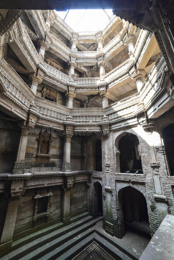 Ancient well in Ahmedabad India, Gujarat stock photos