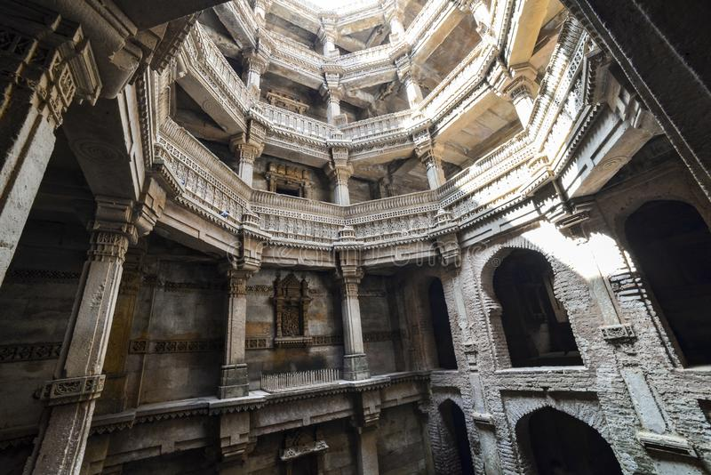 Ancient well in Ahmedabad India, Gujarat royalty free stock images