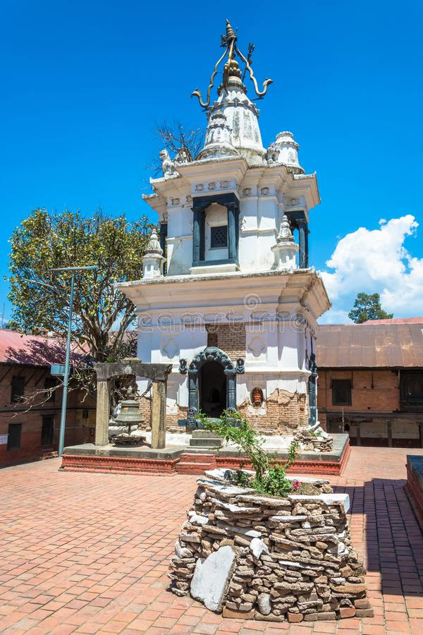 The ancient white temple in the complex Pashupatinath Temple, Ne stock photo