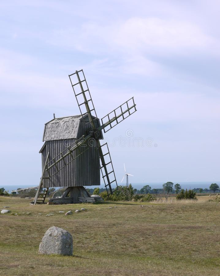 Ancient windmill stock images
