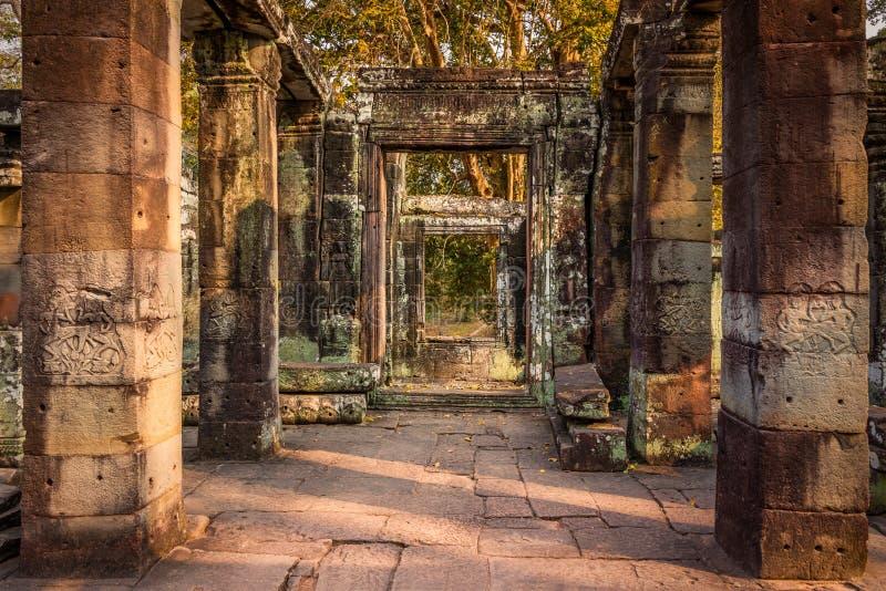 Ancient window stock photo