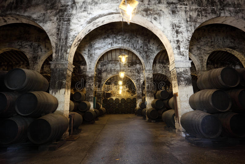 Ancient wine cellar royalty free stock photos