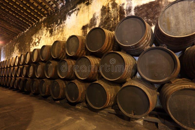 Ancient wine cellar stock photo