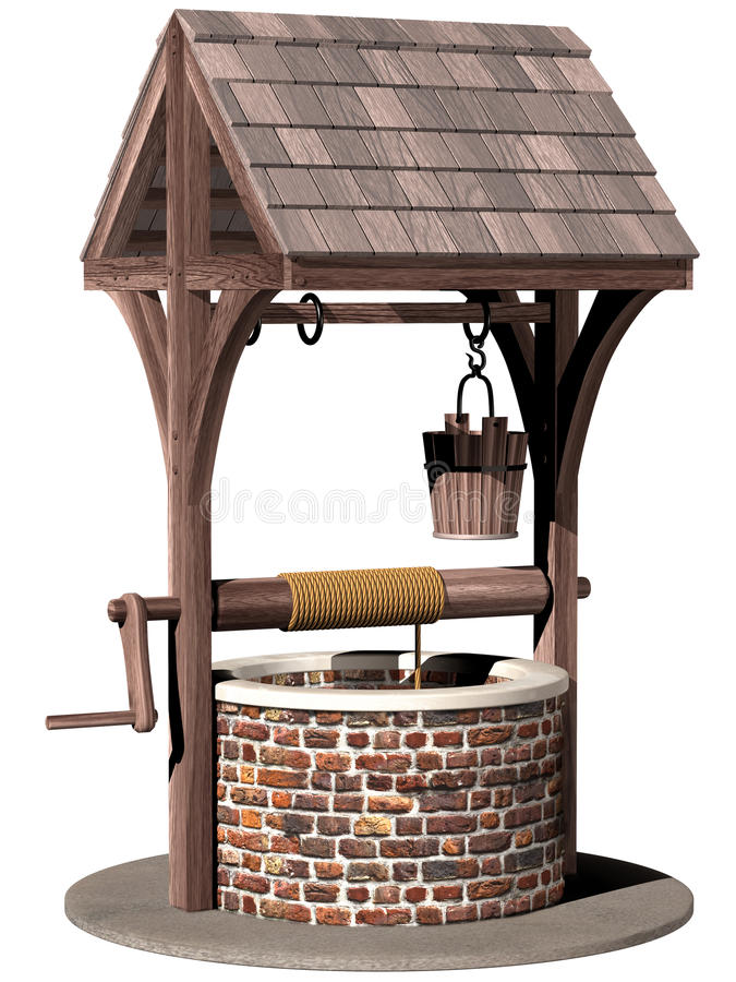 Ancient wishing well royalty free illustration