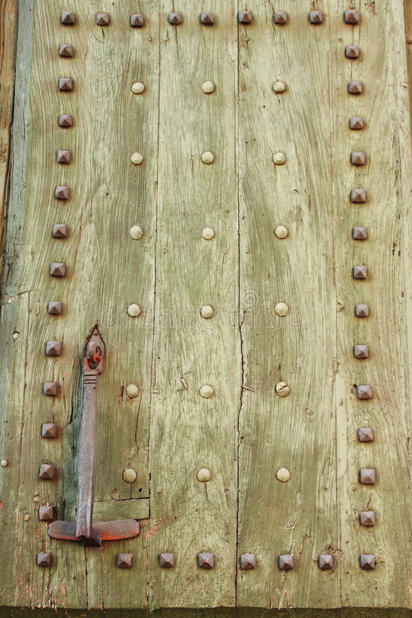 Ancient Wood Front Door Stock Images