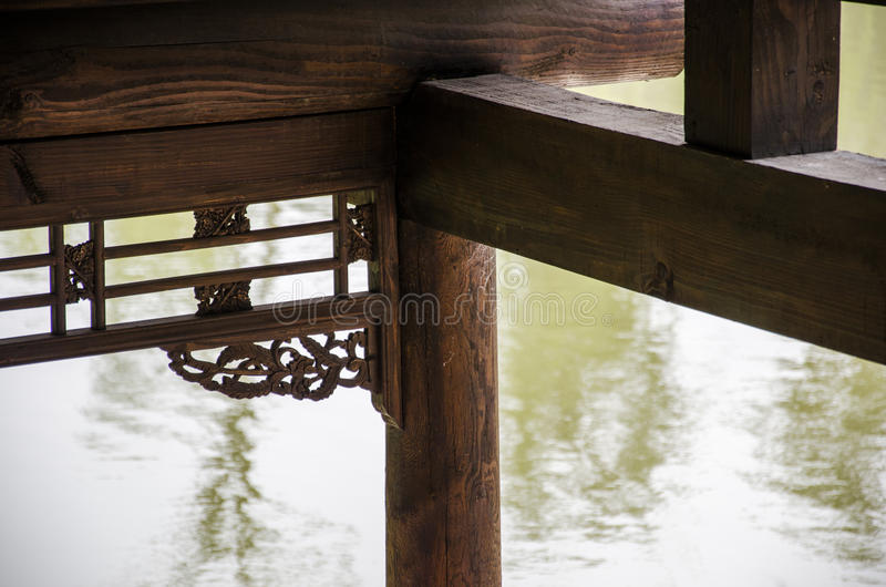 Ancient wooden buildings royalty free stock photography