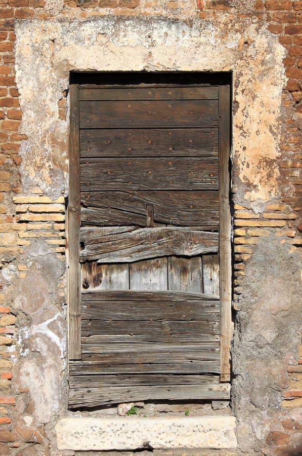 Ancient wooden door stock photography