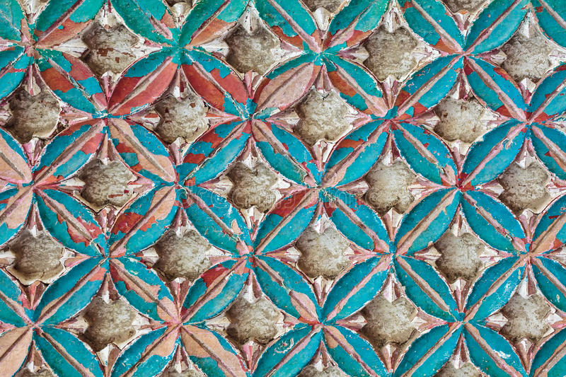 Ancient wooden flower pattern royalty free stock images