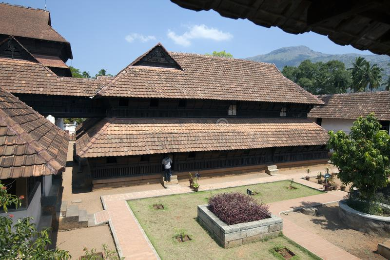 The ancient wooden palace Padmanabhapuram of the maharaja in Trivandrum, India.  stock image
