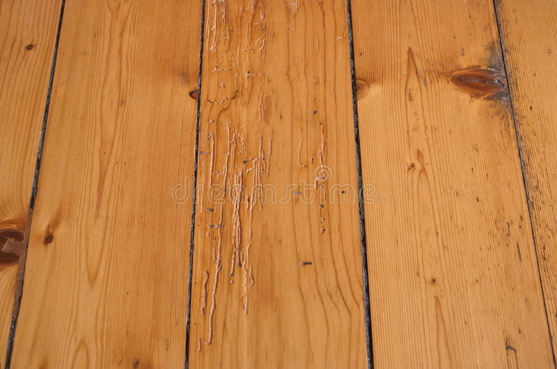 Ancient wooden parquet floor royalty free stock photo