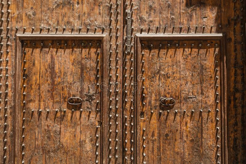 Wooden retro vintage door. Ancient wooden retro vintage door stock photos