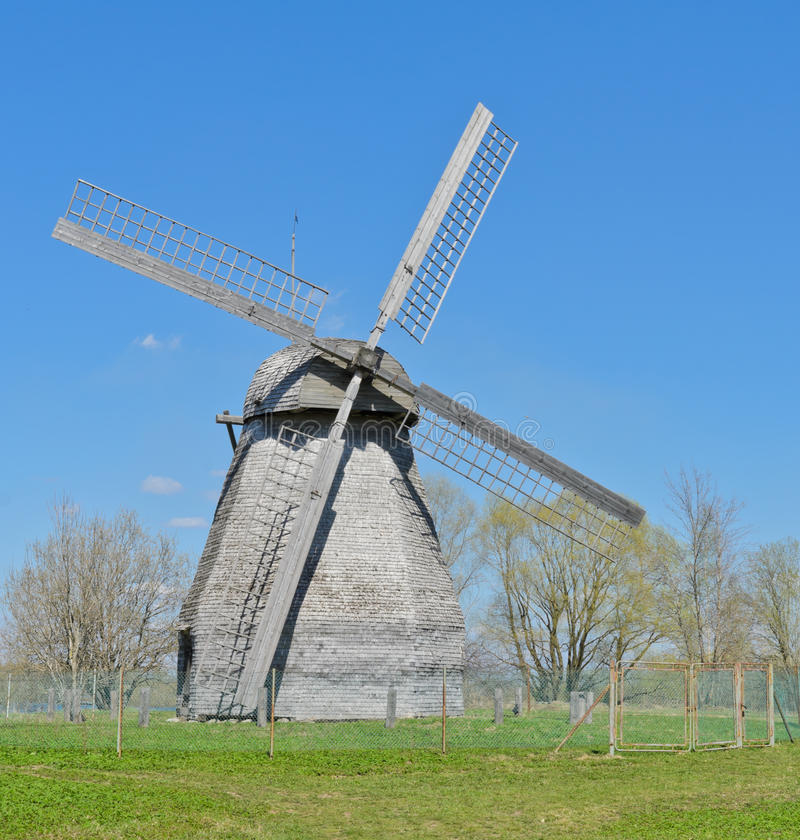 Ancient Wooden Windmill Royalty Free Stock Photo