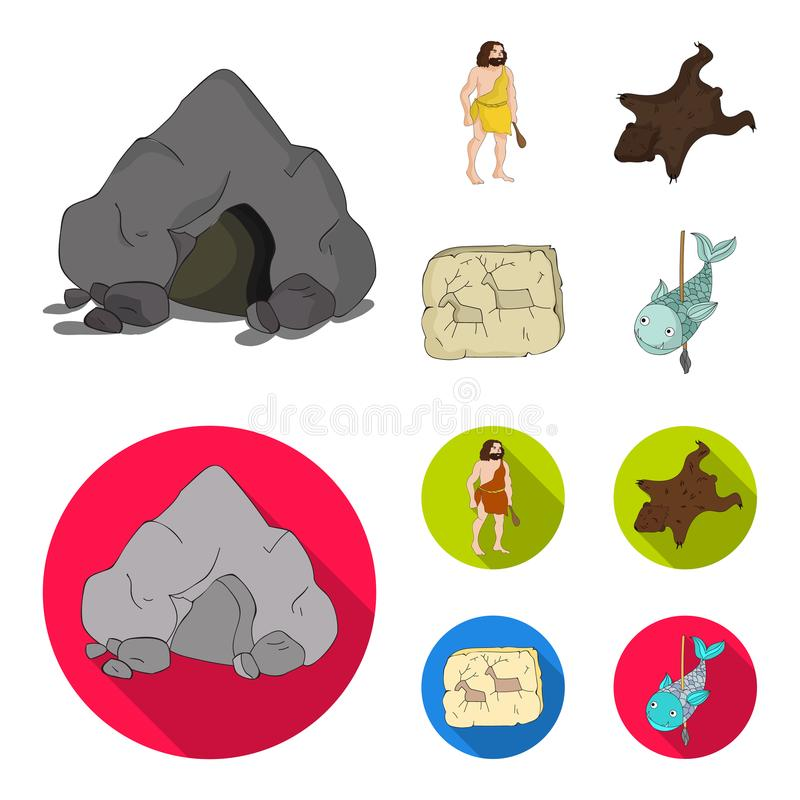 Ancient, world, stone age .Stone age set collection icons in cartoon,flat style vector symbol stock illustration web. Ancient, world, stone age .Stone age set vector illustration