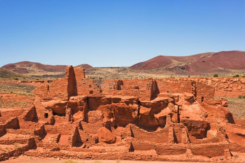 Ancient Wupatki pueblo royalty free stock photo