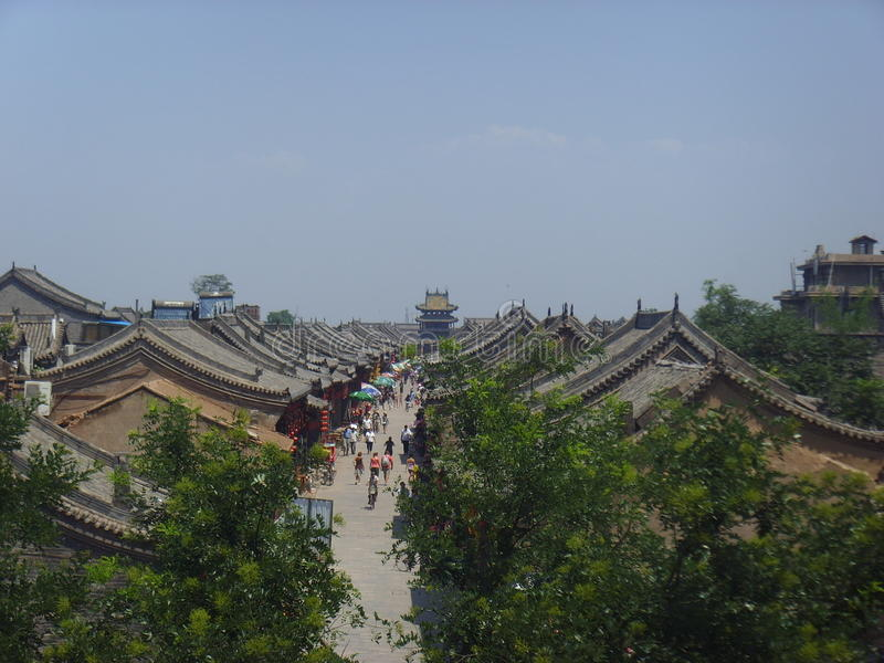 AncientCityen av Ping Yao royaltyfri foto