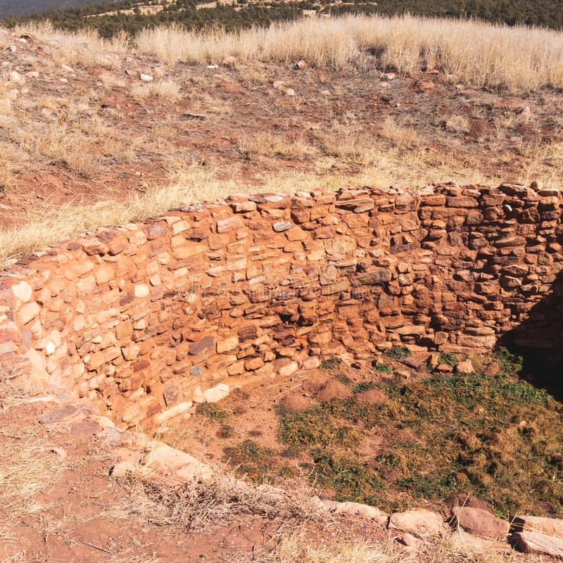Ancients Kiva Near Pueblo, New Mexico. The Ancient Puebloans, otherwise known as Anasazi built kivas as early as 1200 AD in the New Mexico and Utah desert royalty free stock photos