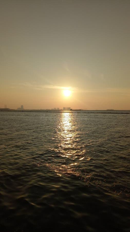 Ancol plaża Dżakarta zdjęcia royalty free