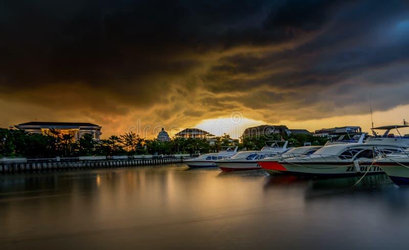 Ancolhaven in de ochtend, Djakarta Indonesië stock foto's