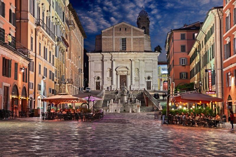 Ancona, Marche, Ιταλία: Πλατεία Μπισίτο στο κέντρο της πόλης στοκ φωτογραφία
