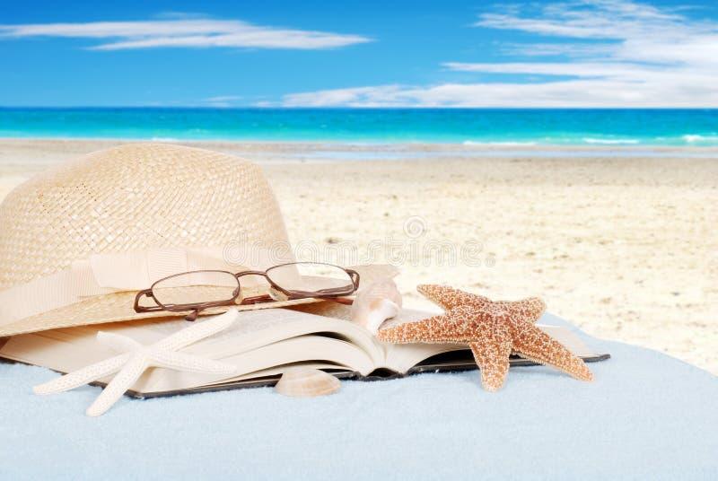 Ancora concetto della spiaggia di vita fotografia stock libera da diritti