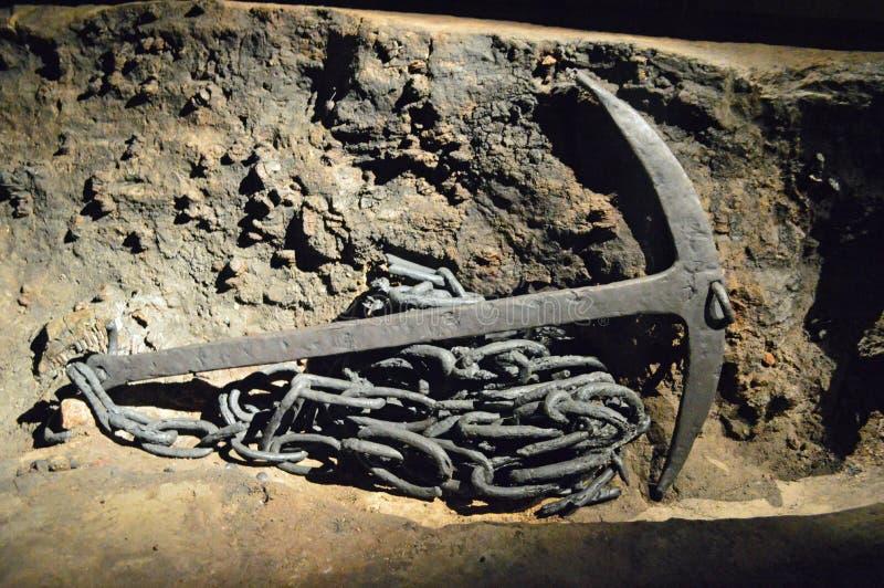 Ancora dalla nave di Ladby - di Viking Burial Ship fotografie stock libere da diritti